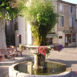Fountain at Gabian, The Village House holiday accommodation near Pezenas